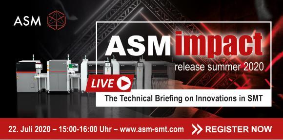 ASM Neuheiten 2020: einstündiger Livestream mit Expertenchat am 22. Juli 2020 / Bild: ASM
