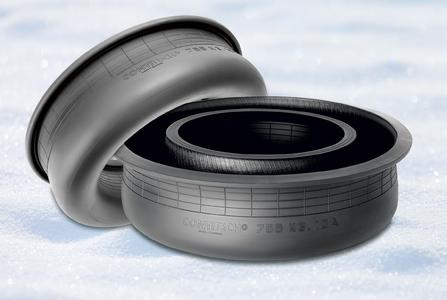 Excellent temperature stability combined with high resistance to abrasion and the effects of ozone, UV rays, and other media: The new K air spring holds up under adverse conditions / Photo: ContiTech