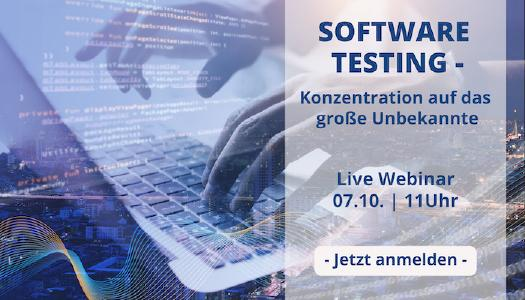 Webinar Software Testing am 7.10.2020, 11 Uhr
