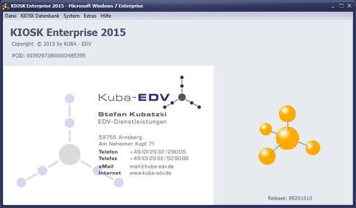 Startseite KIOSK Enterprise 2015