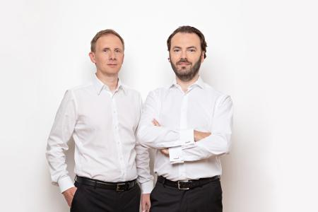 SensAction AG becomes Endress+Hauser Flow Germany AG: Michael Münch, Head of Production, Development and Quality (left), and Stefan Rothballer, Chairman of the Board