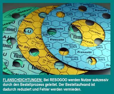 Flanschdichtungen: Nutzerführendes Bestellsystem von RESOGOO vereinfacht jetzt die Auswahl