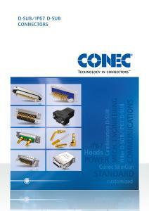 Catalogue D-SUB/IP67 D-SUB Connectors