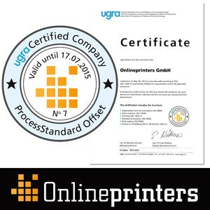 PSO Certificate Onlineprinters 2013 / Foto: Certified print quality