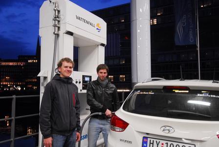 Wasserstoffautos legen Rekordstrecke zurück