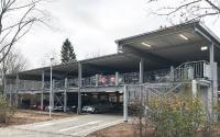 Bildunterschrift: Ganz flexibel, je nach Anforderung: ein Preflex® Parkhaus mit 96 Parkplätzen, realisiert in Innenstadtlage auf einer Fläche von nur 32x35 Metern. (Foto: C + P)