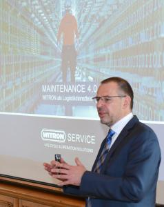 Christian Dietl, Geschäftsführer WITRON Service GmbH & Co. KG, erläuterte die Chancen, welche sich durch Digitalisierung im Service und Anlagenbetrieb ergeben. Foto: WITRON