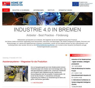 Plattform der WFB Industrie 4.0 in Bremen