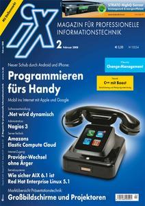 Das Titelbild der aktuellen iX-Ausgabe 2/2008