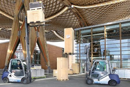 Zwei RX 70 Hybrid Diesel-Stapler von K+N unter dem EXPO-Dach