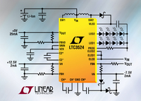 Adjustable TFT Bias Power Supply for TFT-LCDs & LED Driver in a 4x4mm QFN
