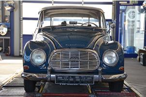 Sorgt für die richtige Stimmung auf dem TÜV SÜD-Stand: der DKW 1000S