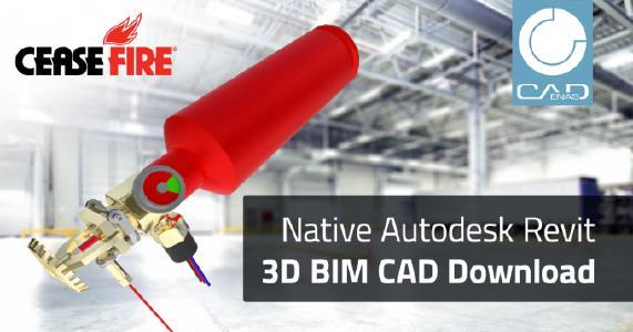 Neuer Service von CeaseFire ermöglicht Import nativer 3D BIM CAD Daten von Brandschutzkomponenten direkt in Autodesk Revit