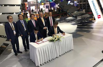 Singulus Technologies: Signing Ceremony during the Chinese Trade Fair CIIE in Shanghai