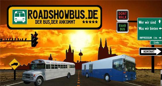 Startpage of Roadshowbus
