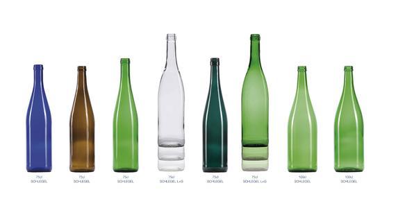 Die neuen umweltfreundlicheren SchlegelflaschenL+G sind fast 20 Prozent leichter als die traditionellen Versionen. Ihre Produktion benötigt daher weniger Energie und Rohstoffe., © O-I Europe