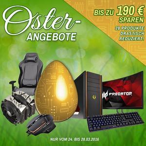 Ab heute bei Caseking! Wir feiern Ostern mit 29 genialen Sonderangeboten und dem konfigurierbaren CK Easter Egg Gaming PC!