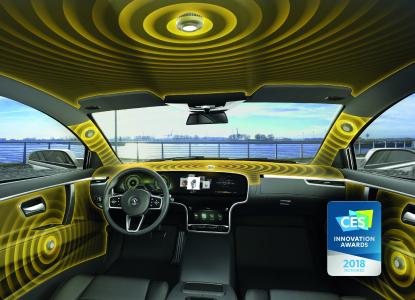 Ac2ated Sound: Outstanding 3D sound – Continental unveils its speakerless audio system, which won the Innovation Award 2018 / Picture: © Continental AG