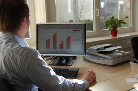 Die Software erfasst und bereitet die Daten detailliert und  übersichtlich auf.