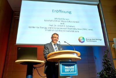 Michael Kynast, Geschäftsführer der Messe Erfurt GmbH bei der Eröffnung der EAST 2019 / Foto: Messe Erfurt GmbH