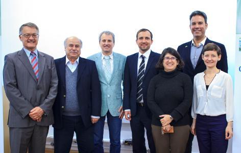 Uwe Heye, Prof. Dr. Colombo Tassinari, Klaus Bergmann, Felix Schimd (dena), Prof. Dr. Eliane Fadigas (IEE),  Afonso Pacheco (BBB Energias Renováveis), Dr. Ute Knörr (BBB)