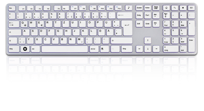 Full-Size keyboard for Mac and PC for all users with high design requirements