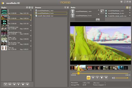moreMedia HD Screenshot mit Videos
