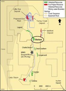 Blackard Location Map
