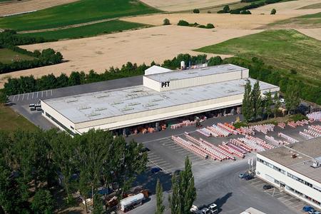 Werksgelände von Knauf in Iphofen