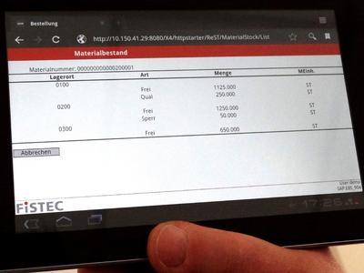 Ob Smartphone, Tablet-PC oder Scanner: Dank einer Smart SAP-Ap...