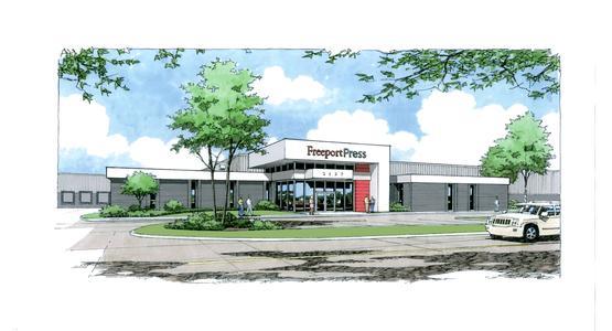 Voransicht – Das neue Gebäude und zukünftige Zuhause der LITHOMAN-Anlage bei Freeport Press | © Freeport Press Inc.