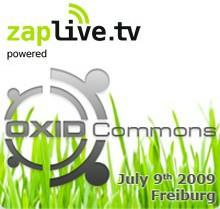OXID Commons im Live-Stream auf zaplive.tv