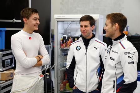 George Russell, Alexander Sims, Tom Blomqvist, DTM Young Driver Test, BMW Motorsport, Jerez de la Frontera