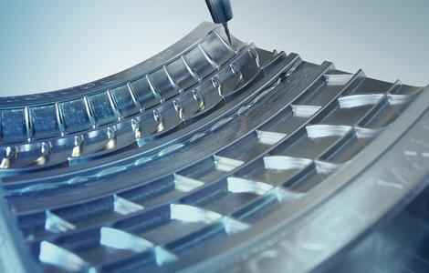 Efficient machining thanks to hyperMILL® tyre moulds / Image: OPEN MIND