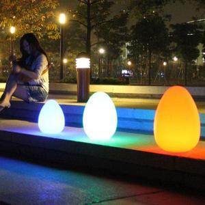 LED Ei als Garten Beleuchtung