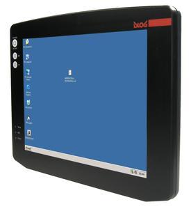 """Der """"Industrie Thin Client"""" DLoG ITC 7 vereint die Vorteile eines robusten 15 Zoll Touch Screen Industrie PCs mit der niedrigen TCO eines klassischen Thin Clients"""