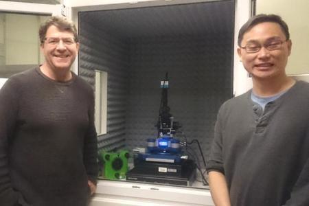Professor Phillip Messersmith and Dr Yang Wei, JPK's SPM users at UC Berkeley
