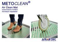 Die Air Clean Mat kann bis zu 600 kg Gewicht tragen und kann somit auch von Rollwagen, Hubwagen, Transportwagen usw. befahren werden