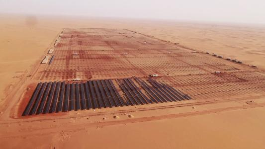 Aerial pictures of Beban solar power plant, 2017 © ib vogt GmbH, Infinity Solar S.A.E.