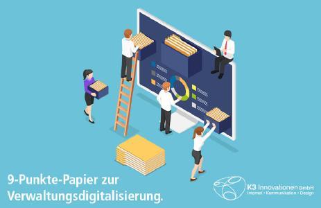 Das 9-Punkte-Papier zur Verwaltungsdigitalisierung enthält 9 Zielsetzungen zur Digitalisierung von Verwaltung, Gesellschaft und zur Stärkung der Sicherheit im Cyber- und Informationsraum.
