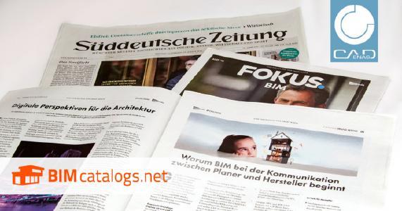 Süddeutsche Zeitung berichtet in Sonderbeilage an 300.000 Leser über BIMcatalogs.net von CADENAS