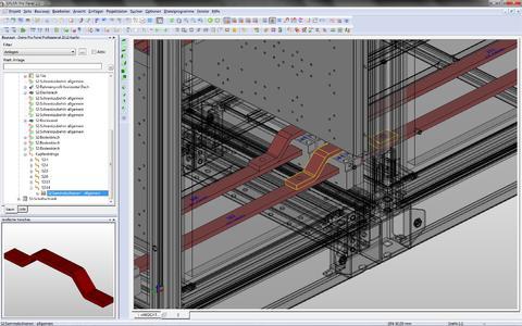 """Mit dem neuen Modul """"Copper"""" lassen sich Kupferschienen und Verbin-dungselemente von Schaltschränken frei konstruieren."""