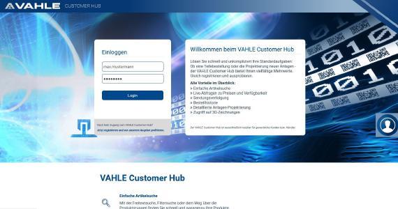 VAHLE Customer Hub - der optimierte B2B Webshop