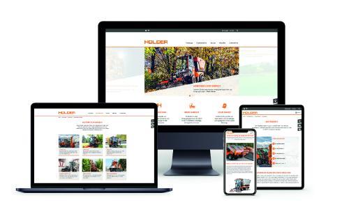 Innovativ,, interaktiv, informativ: Die neue Holder Unternehmenswebsite www.max-holder.com für PC, Tablet und Smart Phone. Foto: Max Holder GmbH