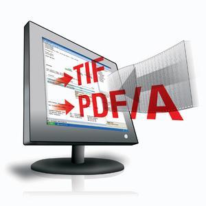 Das neue SCAN-Modul ALOS-COLD ermöglicht die bequeme Bearbeitung der Druckdatenströme und schafft die Voraussetzung für deren Umwandlung in das TIFF-Format oder den Export zu PDF/A