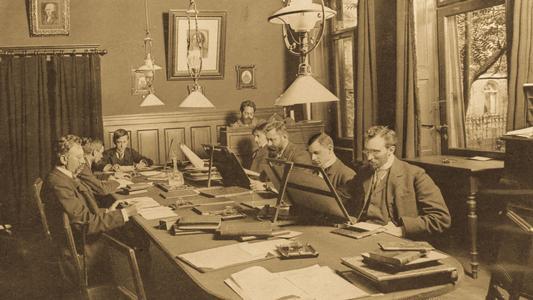 Reading room of Peters Music Library in 1910 © Leipziger Städtische Bibliotheken / Abbildung zur honorarfreien Veröffentlichung.