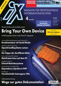Das Titelbild der aktuellen iX-Ausgabe 4/2012