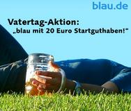 Vatertag-Aktion: blau.de mit 20 Euro Startguthaben