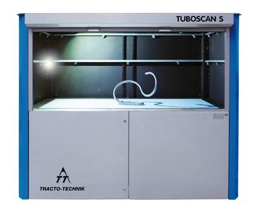 Mit der optischen Rohrmesszelle TUBOSCAN S können Rohrfiguren innerhalb weniger Sekunden präzise vermessen werden
