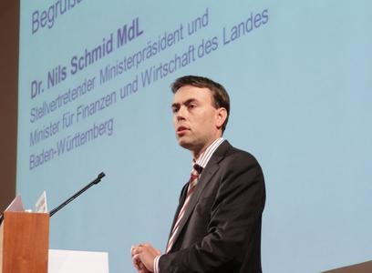 Bekennt sich zur Biotechnologie: Dr. Nils Schmid MdL (© BIOPRO)